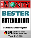 Siegel Focus Money Testsieger Bester Ratenkredit 31/2018