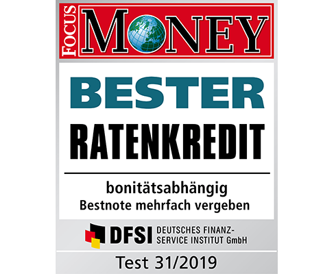 Berechnen Sie jetzt mit den Beamtenkredit-Rechner Ihren FlexoPlus-Ratenkredit - den besten Ratenkredit laut FOCUS MONEY Test Heft 31/2019.